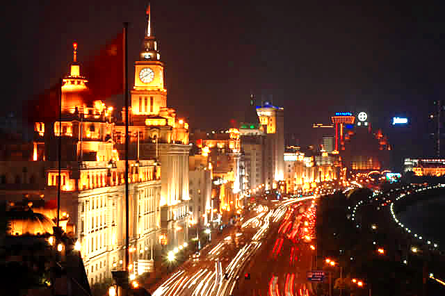 Shanghai_the_bund_light_line
